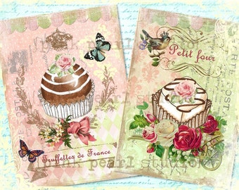 "Sweet Truffettes de France and Petit Four French Digital Prints in 2 - 5x7"" Format"