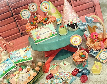 Extra LaRgE DIY ShAbBy and CuTe EasTer ParTy DigItAl KiT: 10 ParTy ItEmS with 41 DiFFerEnt OpTioNs