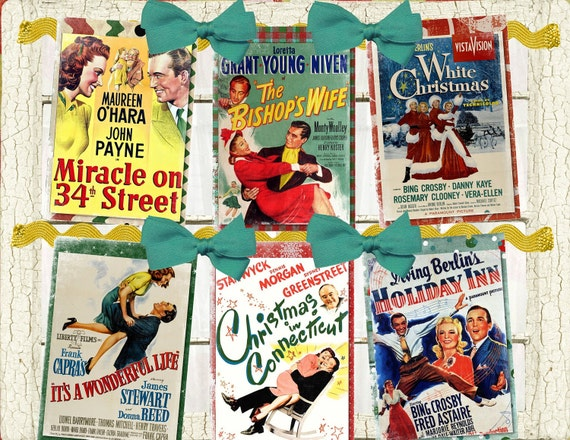 Classic Christmas Vintage Movie Poster DIY Digital Garland Banner, Easy and Fun to Create
