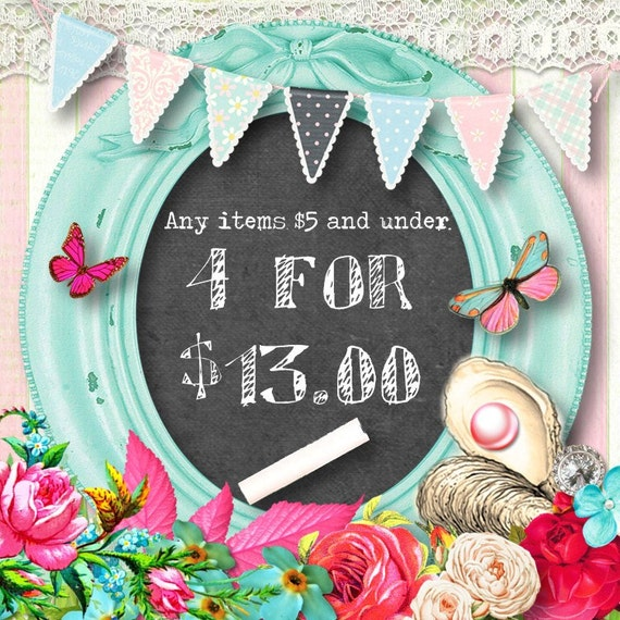 DISCOUNT DIGITAL ITEMS-Purchase this listing for any 4 digital items under 5 dollars