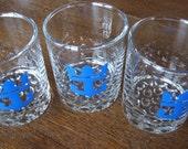 Royal Caribbean Cruise Line cocktail glasses set of 3