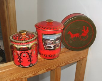 One Red and Gold Tin Your Choice