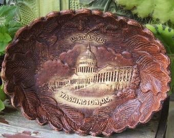 Washington DC Wood Composite Souvenir Dish