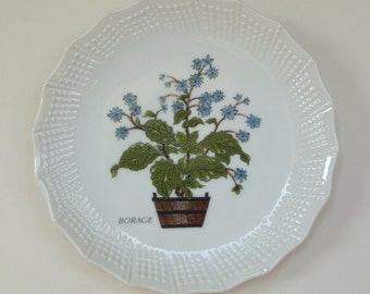 ENESCO Imports Japan Borage Plate