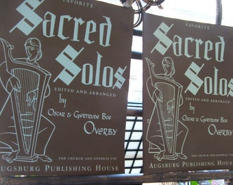 Two SACRED SOLOS Music Books