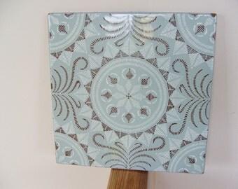 Vintage Spanish Clay Tile Moorish Design Pattern