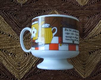 Viennese Coffee Mid Century Coffee Cup Mug with recipe Japan
