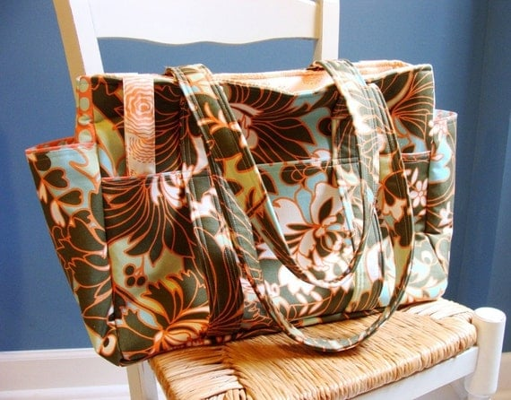HANDMADE Weekender Tote Bag --- Made to order from fabric which you provide