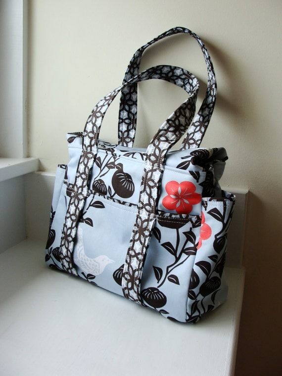 2 Piece Zippered Diaper Bag Set --- Crafted from your choice of our in stock fabric