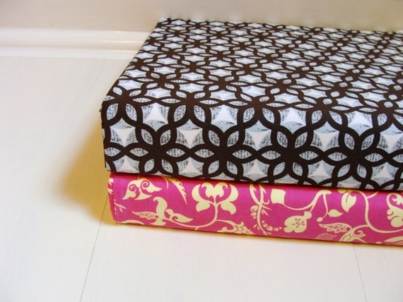Set of 2 Custom Three Ring Binder Fabric Slipcovers --- Choose from our in stock fabric