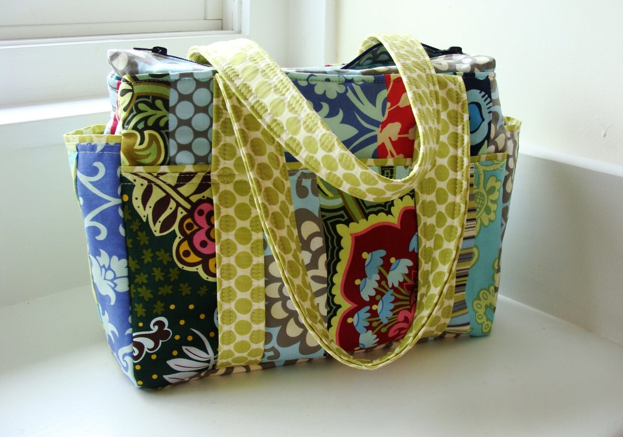 design your own patchwork ultimate baby diaper bag tote. Black Bedroom Furniture Sets. Home Design Ideas