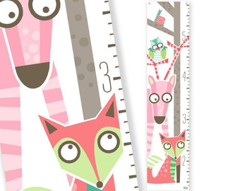 Growth Chart Wild sprouts (pink)