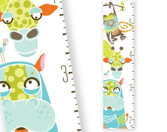 Growth Chart Safari (Green)