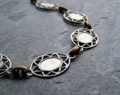 15% Off Storewide Sale-Vintage Chain-Vintage Brass & Steel Chain with Settings-By The Foot