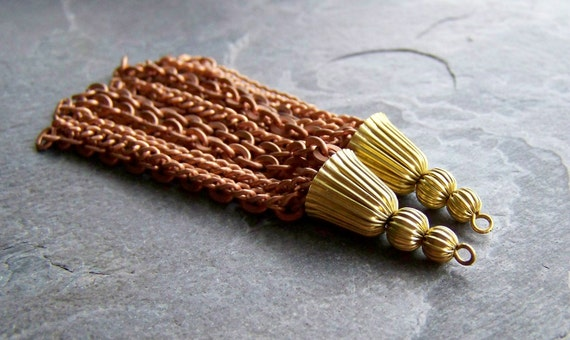 Reserved for Gilda-Sale-See Store Announcement-Beads-Beads-Brass & Copper Long Tassle-2