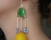 GIANT Lemon Earrings