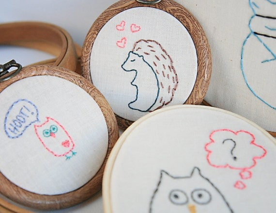 Forest Critters PDF Hand Embroidery Pattern