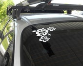 Hibiscus Vinyl Car Decal