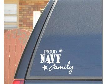 Navy Family Car Decal