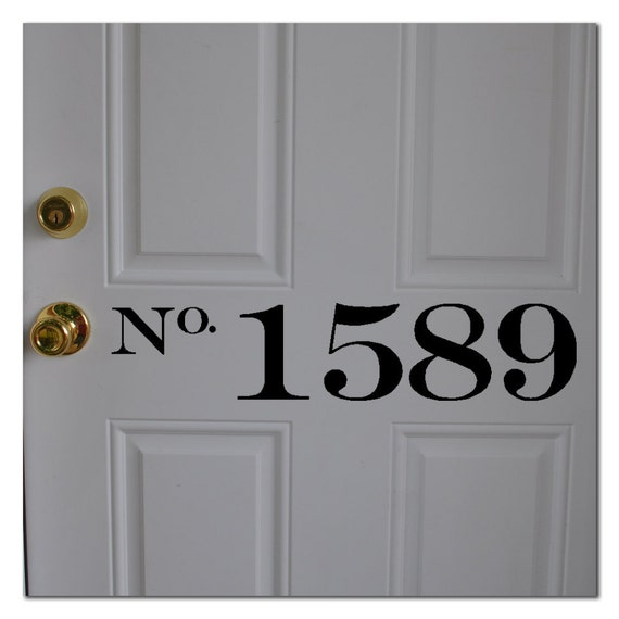 """House Number Vinyl Decal 4"""" tall"""