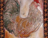 """Rooster note card titled """"Gallant Rooster"""""""