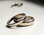 White Gold Stacking Rings Wedding Bands