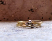 Unique gold nugget stacking rings