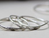 Curvy Silver Stacking Rings