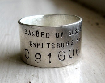 For Jayme Unique Bird Band Ring - Personalized Wedding Ring