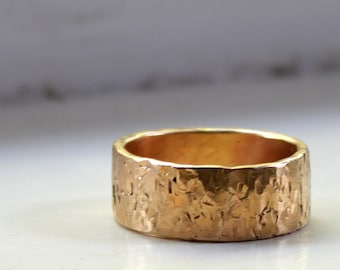 With RUSH and EXPEDITED shipping - Mens Ring Mens Wedding Ring 14k Gold