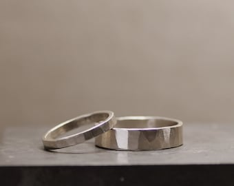 White Gold Wedding Band Set with RUSH PRODUCTION