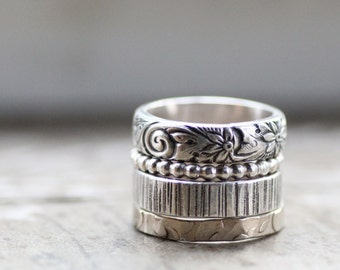 Rustic Princess Stacking Rings