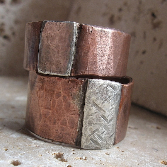 Archaic Copper And Silver Band