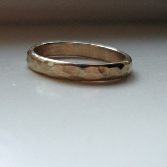 rustic 14k gold unique wedding ring by tinahdee on etsy