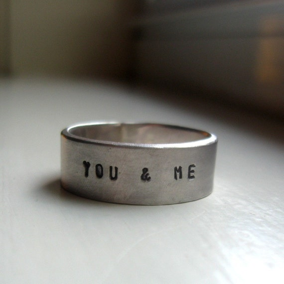 Personalized Rustic Wedding Band