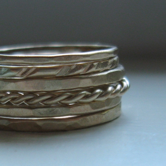 Rustic Gold Stacking Rings