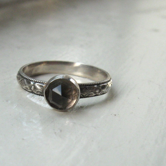 Smoky quartz engagement ring for Quartz wedding rings