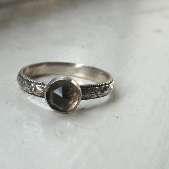 Smoky Quartz Engagement Ring