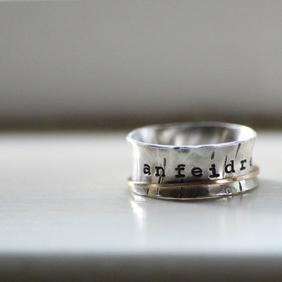 Global Infinity Sterling Spinner Ring
