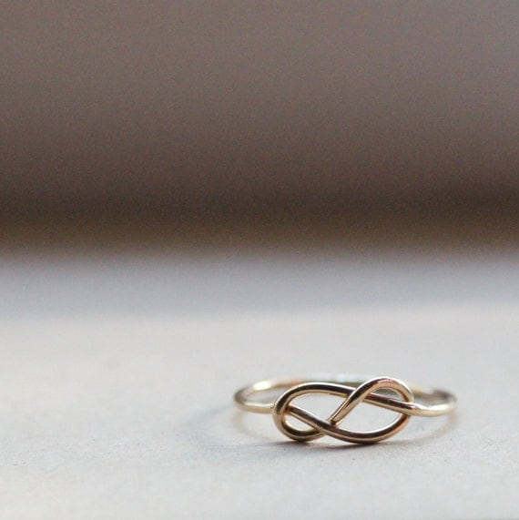 14k Gold-Filled Rustic Infinity Ring  - Great Stocking Stuffer