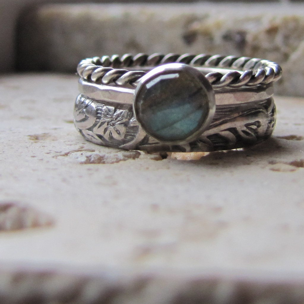 etsy wedding rings handmade labradorite engagement ring set 3942