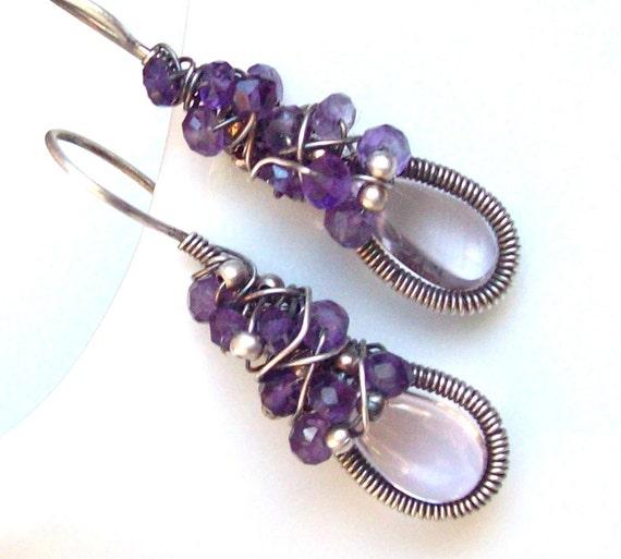 Lavender Dance Earrings