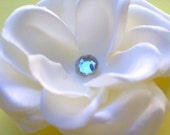 45% OFF SALE Large Ivory White Rose Flower Hair Clip