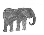 Elephant (geometric art print)
