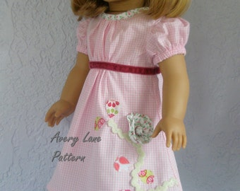 "18"" Doll Clothes Pattern Janie Dress & Top Boutique Sewing Pattern  Avery Lane Designs 18 inch PDF Pattern Instant download"