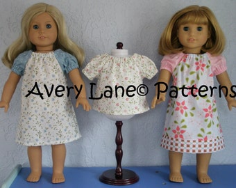 Bundle Peasant SwingTop and Dress PDF Sewing Pattern 3 different styles for both 15 inch and 18 inch dolls