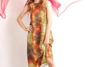 ONE OFF Dress prints gown goddess romantic wedding bridesmaids one off piece M