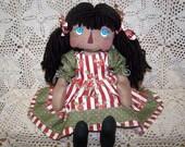 Primitive Raggedy Cheyney Marie Doll Pattern Et.