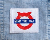MIND THE CAT Raggy Patch, a take off on 'mind the gap ' London Underground