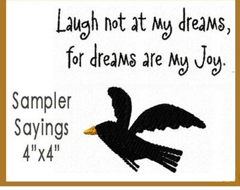 SAMPLER SAYINGS. Machine embroidery designs.